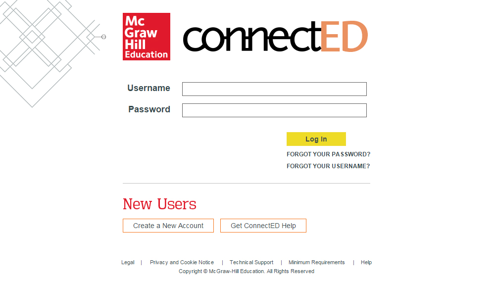 MHE ConnectED Create Account